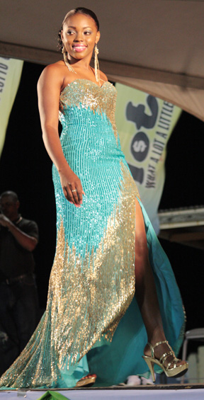Best Evening Wear went to Miss St. Vincent, Shackell Bobb.