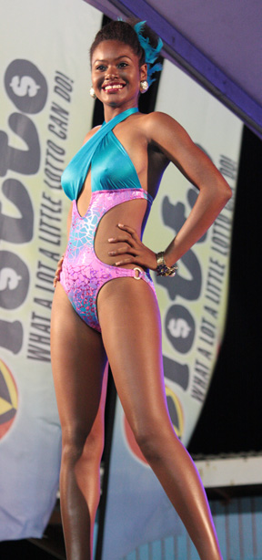 Miss Easterval 2013, Justlyn Ollivierre, also won the Best Swimwear category of the show.