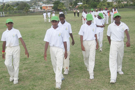 The St. Vincent and the Grenadines team.