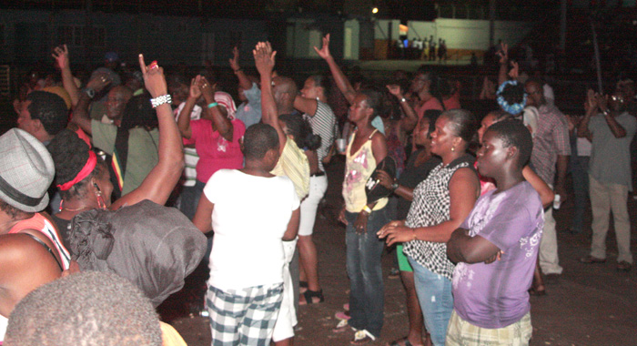 Calypso lovers react to a performance during the semi-finals at Victoria Park on Friday, June 21, 2013.