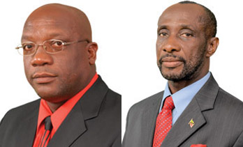 Dr. Timothy Harris (left) and Sam Condor. (montage image)