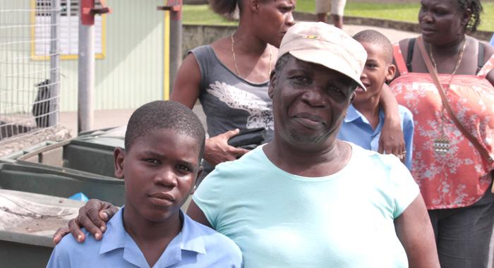 Luwenda Samuel and her grandson, Brianson Samuel. (IWN photo)