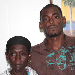 Dwaine Sandy, left, and his mother, Margaret Sandy. (IWN photo)