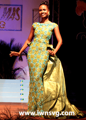 Miss SVG 2013 -- Best Evening Wear -- Shara George -- Miss Mustique Co. Ltd.