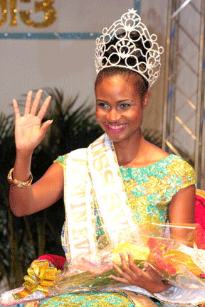 Miss SVG 2013, Shara George. (IWN photo)