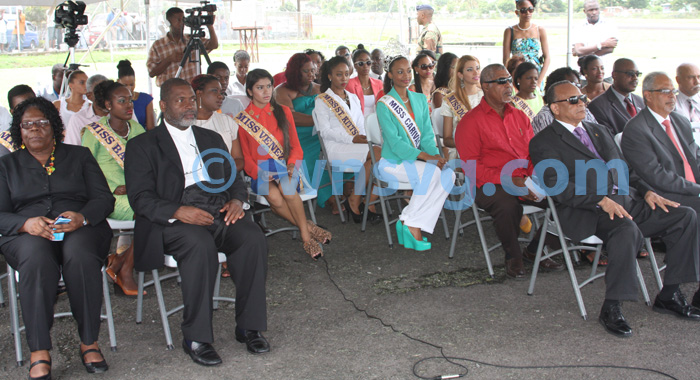 Government officials, Miss Carival contestants, LIAT officials and media representatives at the ceremony.