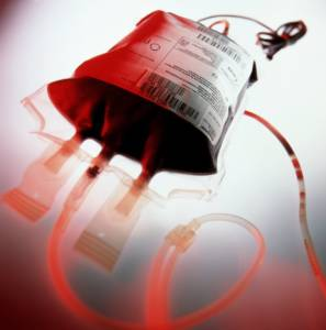 A blood transfusion in process. (Internet photo)