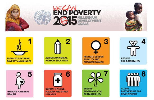 The eight Millennium Development Goals (MDGs)