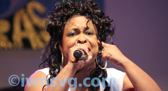"""Shaunelle Mc Kenzie, who sang """"Mama Cry"""" and """"Song of Hope"""", tied with Dennis Bowman for third."""