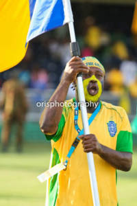 """Martian """"Marty"""" King is seen in his characteristic outfit at a football match in September 2011. He died on Wednesday, age 41. (Photo: Oris Robinson)"""