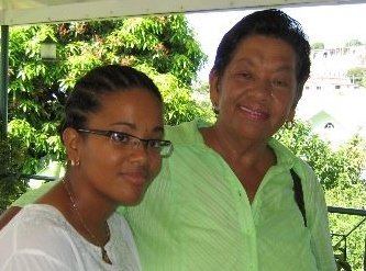 Opposition senator, Vynnette Frederick, and her mother, Daphne Frederick. (internet photo)