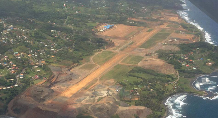 Prime Minister Dr. Ralph Gonsalves says the Argyle airport will be completed by next August. Its seen here, in June 2013. (Internet photo)