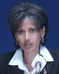 Deputy Executive Director of the FSA and Acting Chief Executive Officer of the BLA, Eleanor Astaphan.