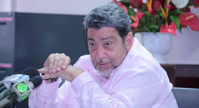 "Prime Minister Dr. Ralph Gonsalves says he is ""absolutely fed up"" with the constant industrial action at LIAT (IWN file photo)"