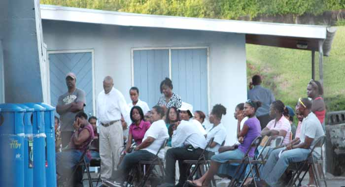Members of the SJCK PTA met at the school in Kingstown on Thursday. Click to read story. (IWN photo)