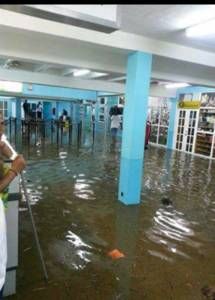 Inside the terminal building at E. T. Joshua Airport Saturday night. (Internet photo)