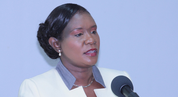 Guyana's Minister of Human Services and Social Security, Jennifer Webster.