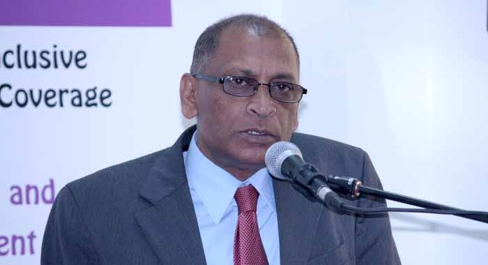 Guyana's Miniser of Agriculture, Dr Leslie Ramsammy.
