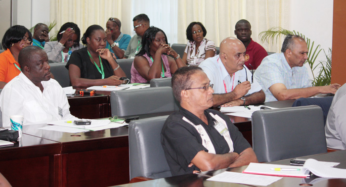 Participants in the workshop on imperative for the small ruminant industry in the Caribbean in Guyana on Sunday.