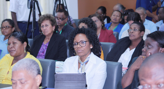 participants at the Caribbean Week of Agriculture event n Guyana on Tuesday.