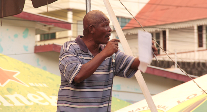 Former prisoner, Grantley Bramble, was an emcee at the concert. (IWN photo)