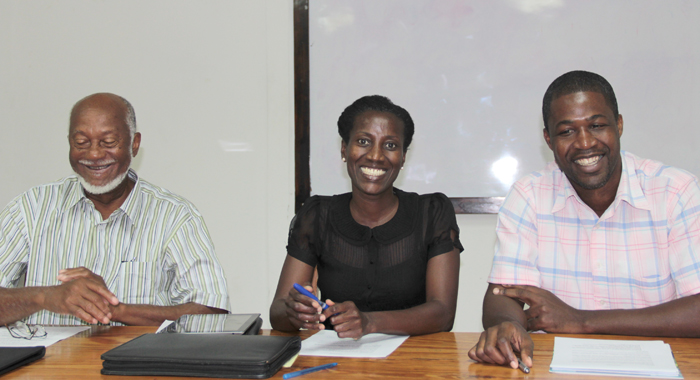 From left: PMC chairman, Oscar Allen and members Zita Barnwell and Ronnie Daniel. (IWN photo)