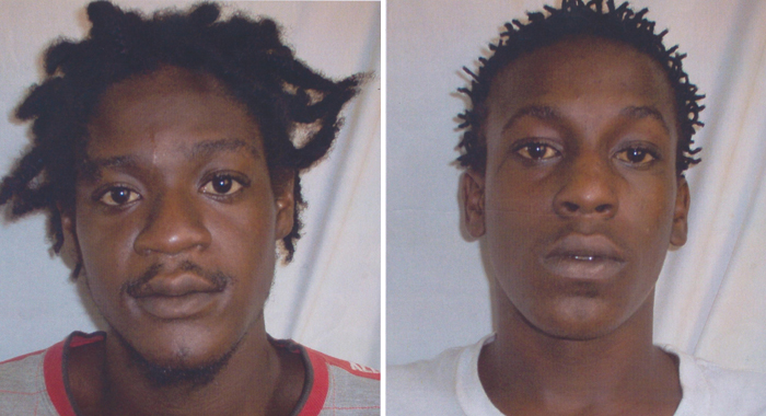 WANTED: Jason Henry, left, and Rodney Roberts.