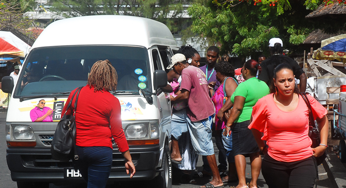 Passengers Rushing Into A Bus 3