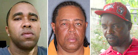 "From left, nurder victims Kevin Greaves, Godfrey Cumberbatch, and Chesley ""Puppy"" Dowers."