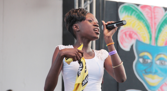 "Junior Soca Monarch ""Neisha ""Mighty Spice"" Richards. (IWN Photo)"
