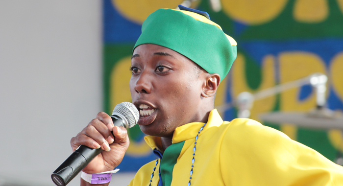 "Secondary School Calypso Monarch Rochard ""Mighty Kel"" Tittle. (IWN photo)"