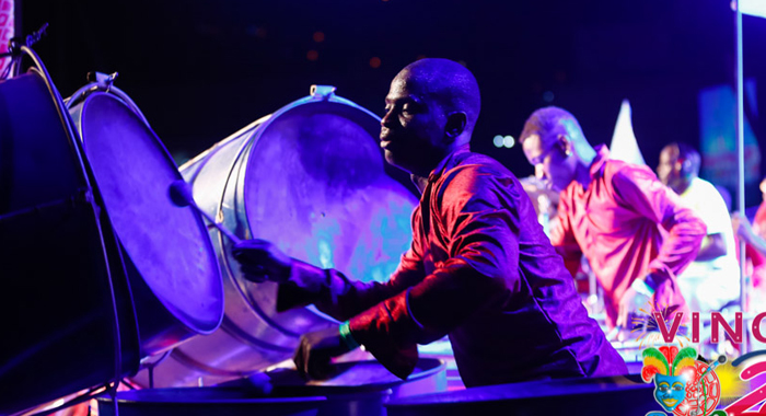 A scene from Sion Hill Euphonium Steel Orchestra's 2014 Panorama performance. (Photo: CDC/Oris Robinson)