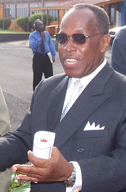Former Deputy Prime Minister, Sir Louis Straker. (IWN photo)