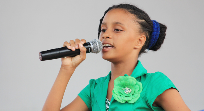 "Primary School Calypso Monarch Tia ""Singing Tia"" Wyllie. (IWN photo)"