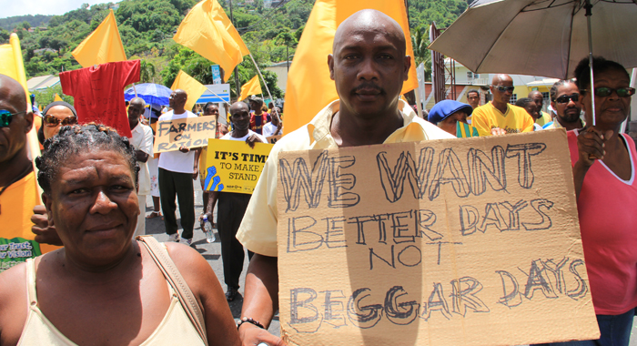 NDP candidate for North Windward, Lauron Baptiste, said Vincentians want better days, not bitter days. (IWN photo)