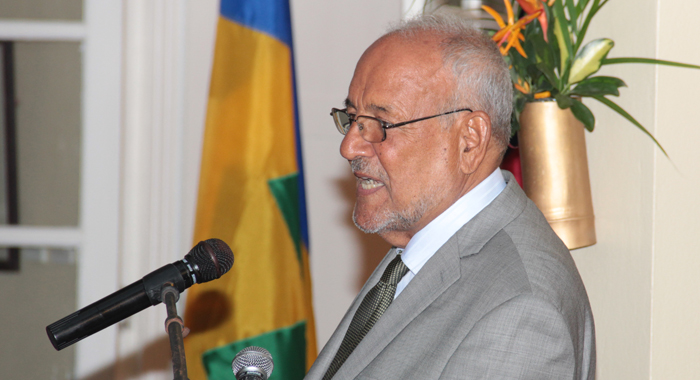Sir James Mitchell said he was was instrumental in the re-establishment of Castries-Taipei ties. (IWN photo)