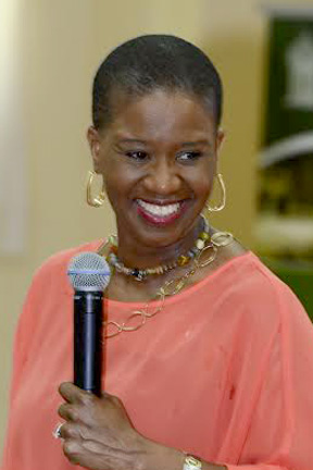 Vincentian author, motivational speaker and entrepreneur Karen Hinds.