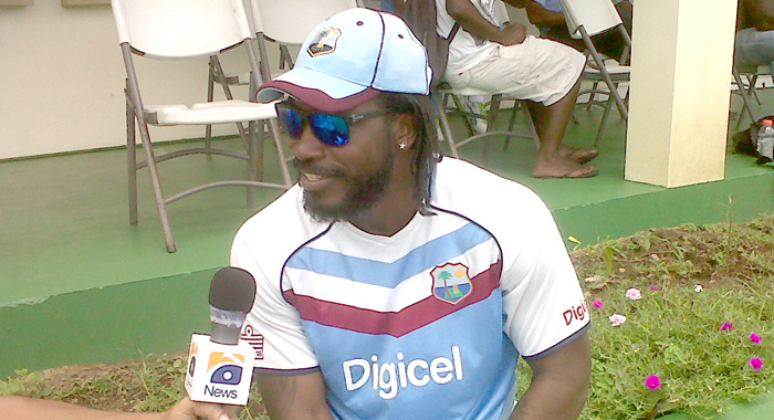 Champion opener, Chris Gayle, is hoping to let his bat do the talking.