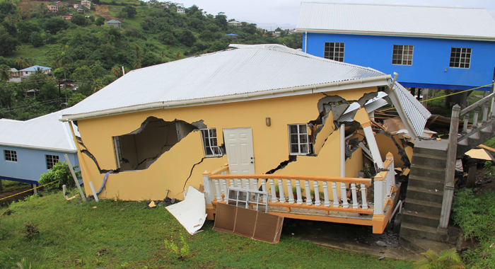 The house collapsed on Sept. 19. The owner had previously complained to the government the house was shaking. (IWN photo)