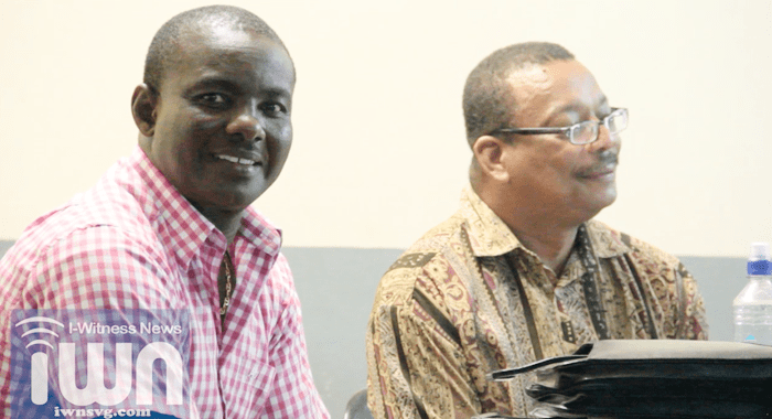 HLDC Manager, Elvis Charles, left, and  Chairman Beresford Phillips. (IWN image)