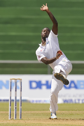Kemar Roach took 4/64 to st up victory. (WICB Media Photo/Randy Brooks)