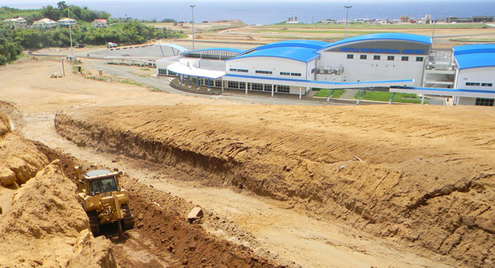 The road to the terminal building being developed. (AIDC photo)