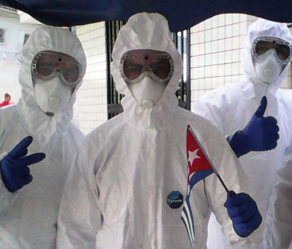 Cuban medical doctors  in Sierra Leone fighting against ebola.