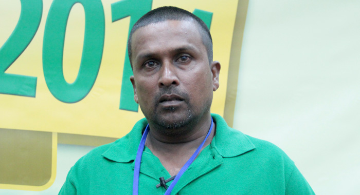 Guyanese farmer Nazim Ali Mohamed is a repeat victim of praedial larceny. (IWN photo)