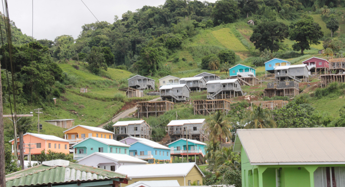 The houses form part of the government's housing project in Green Hill. (IWN photo)