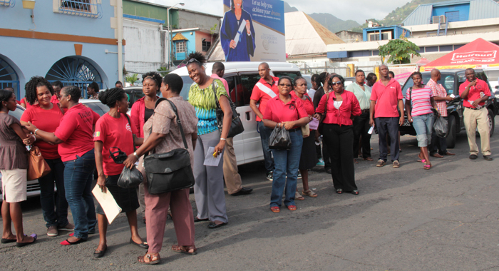 A section of the crowd at the rally on Friday. (IWN photo)