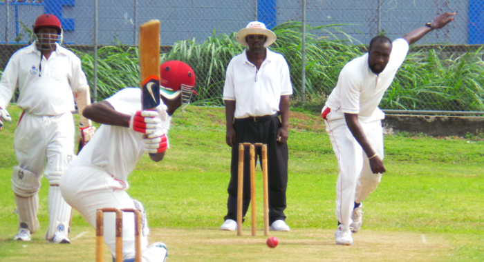Ronneil Jeffrey bowling a few weeks after his narrow escape. (Photo: E. Glenford Prescott/IWN)
