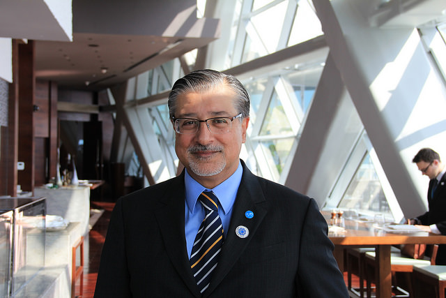 """Adnan Amin, Director-General of the International Energy Agency, says the Caribbean has """"particular"""" renewable energy considerations that are distinct from Latin America. Credit: Kenton X. Chance/IPS"""