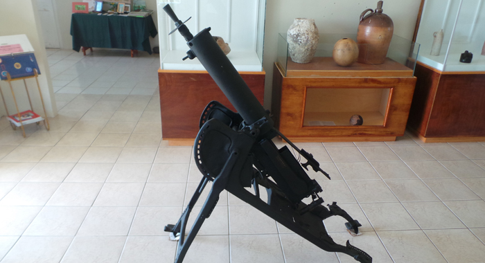 A World War 1, German-made surface-to-air piece of weaponry on display at the museum. (Photo: E. Glenford Prescott/IWN)