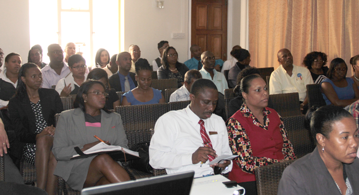 Private sector representatives at Thursday's event. (IWN photo)